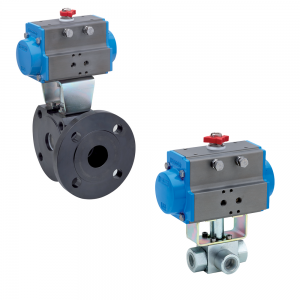 3 Way Actuated Ball Valves