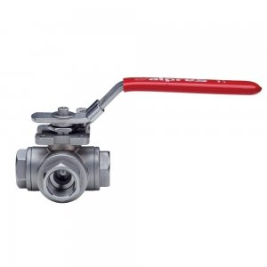 Screwed 3 Way Ball Valve